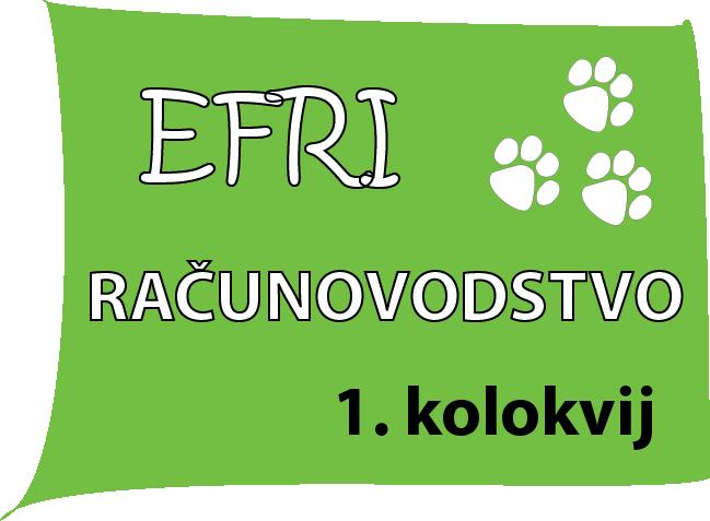 Instrukcije iz RACUNOVODSTVA - EFRI-K1
